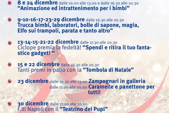 Programma week end 8-9-10 Dicembre